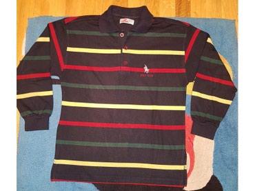 Majica na kragnu - Srbija: Polo club majica dugih rukava za decake sa kragnicom. Teget crna na