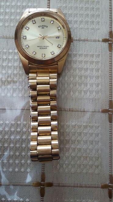часы кашарель женские в Азербайджан: Золотистые Мужские Наручные часы Balmain