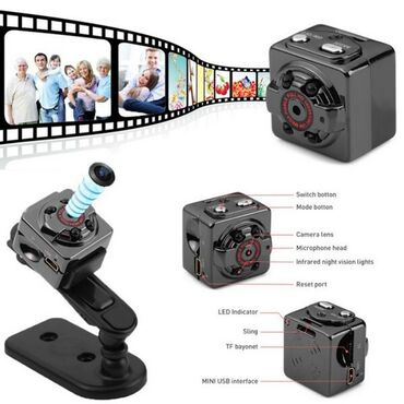 Фото видеокамера - Кыргызстан: Спортивная PC камера DV SQ8 поддерживает карты памяти MicroSD до