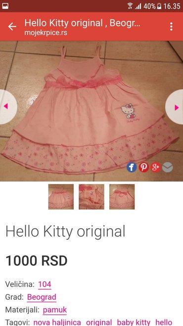 Hello kitty haljinica nova. Uzrast 1-2 godine. Za devojcice - Belgrade