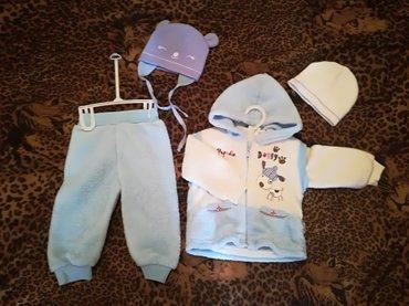Новый тёплый костюм тройка. Жилет, штанишки и свитер. Турция. На 9/12  в Бишкек