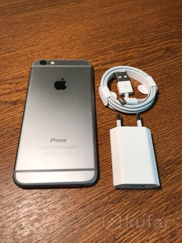 купить аммиачную селитру в Кыргызстан: Б/У iPhone 6 64 ГБ Серый (Space Gray)