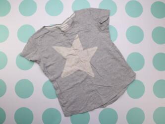 Женская футболка со звездой Next, р. М    Длина: 62 см Пог: 50 см Нюан