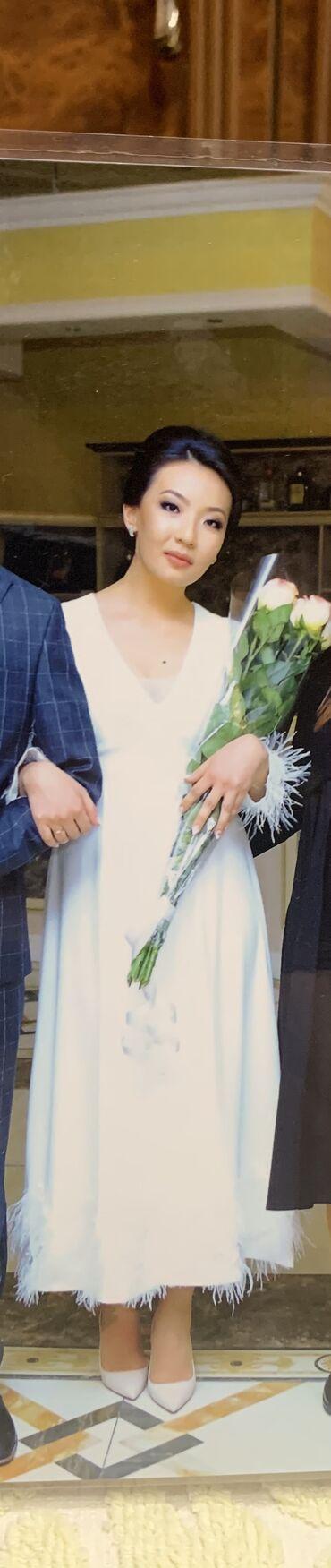 Продаю шикарное платье в цвете слоновой кости от Cristian Dior. Одевал