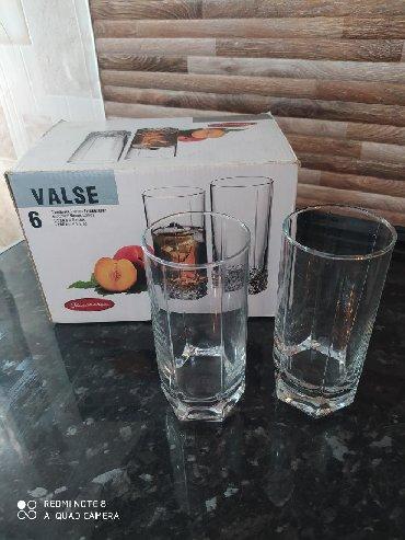 Стеклянные стаканы - Кыргызстан: Продаю турецкие стаканы. 5 штук. Б.у
