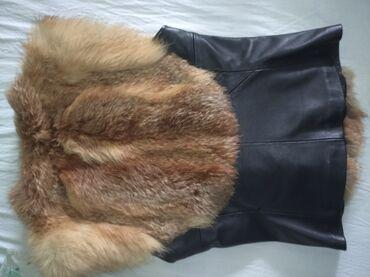 Prsluk - Srbija: Na prodaju ženski prsluk od pravog krzna i kože ! Ne nošen ni jednom