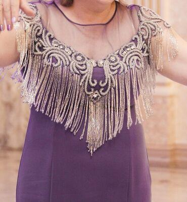 zhenskoe plate 52 razmer в Кыргызстан: Платье (52р.) с вышивкой из бисераСмотрится очень богатоНадевали