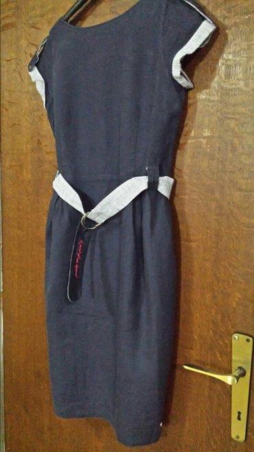 Nova Legend haljina sa otvorenim leđima od lana, veličina L, struk 80  - Velika Plana