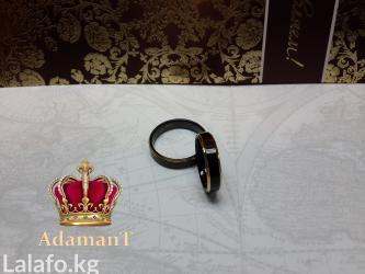 чёрное кольцо из вольфрама в Кыргызстан: Кольцо из вольфрама, чёрное с золотыми полосками