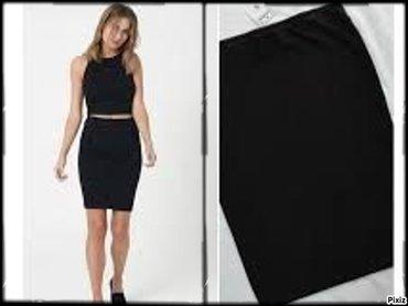 Crna suknja tegljiva. uvek potrebna, vel univerzalna
