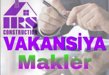 Daşınmaz əmlak - Azərbaycan: İRS Construction şirkətinə minimum 1 ilə yaxın iş təcrübəsi və
