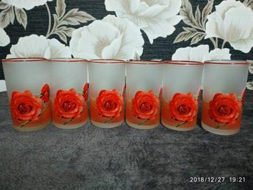 Стаканы для сока б/у 6 шт высота 11,5 см в Bakı