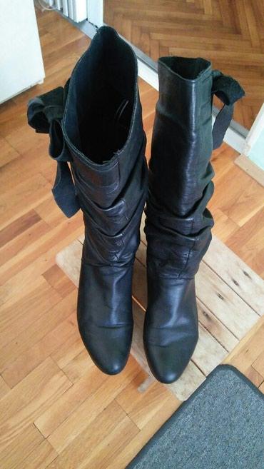 Crne kozne cizme.bez ostecenja.br.38 - Jagodina