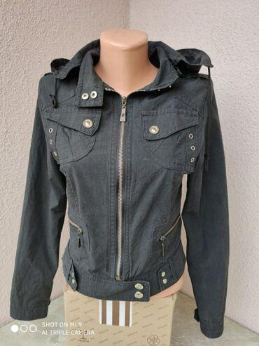 Crna tanja jakna sa kapuljacom Ramena: 37cmRukavi: 59cmGrudi