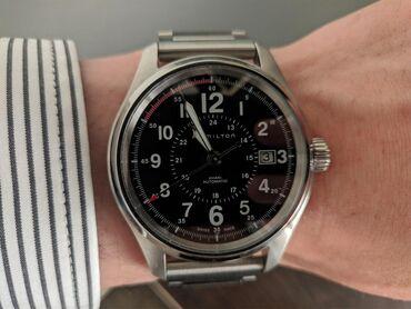 Черные Мужские Наручные часы Hamilton
