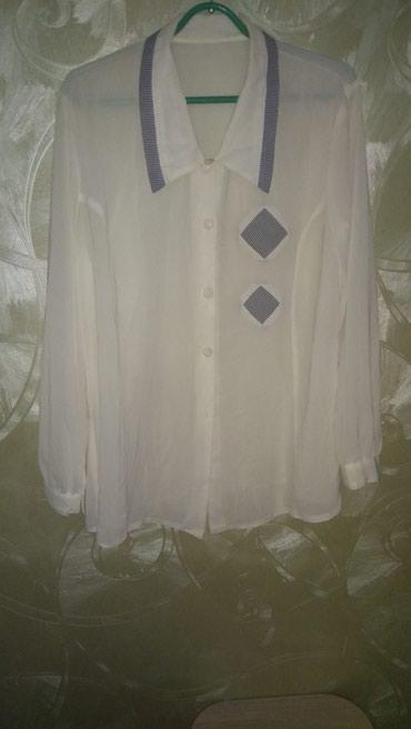 блузки с коротким рукавом в Кыргызстан: Блузка белая. С длинным рукавом. Размер 46-52