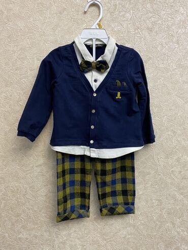 Костюм двойка   Состояние б/у одевали раза 3-4   Возраст 9-12 месяцев