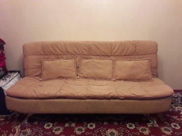 продаём диваны 3 штуки и 4 подушки в комплекте почти новые в отличном  в Бишкек