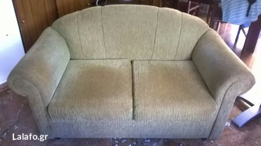 Καναπές 1.50 μμπεζ καφέ σε καλη κατάσταση Περαμα Αττικής