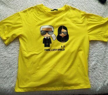 женская одежда бишкек в Кыргызстан: Новая футболкаженская . Карл .Размер стандарт