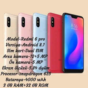 Gəncə şəhərində Xiaomi Redmi 6 pro