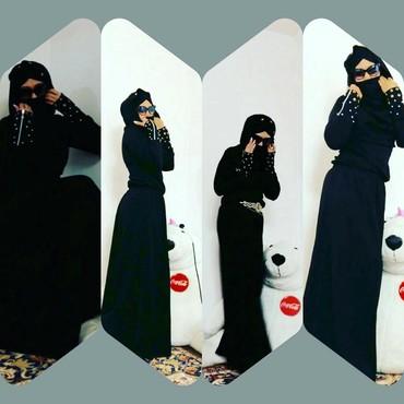 длинное черное платье в Кыргызстан: Платье чёрное длинное с капюшоном, заказывала с Дагестана, ни разу не