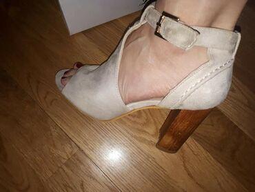 Krem sandale, nosene samo dva putaBr 39,kao novePoslednja slika je od