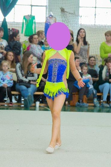 спортивная-гимнастика в Кыргызстан: Продаётся купальник для художественной гимнастики на девочку 6-7лет