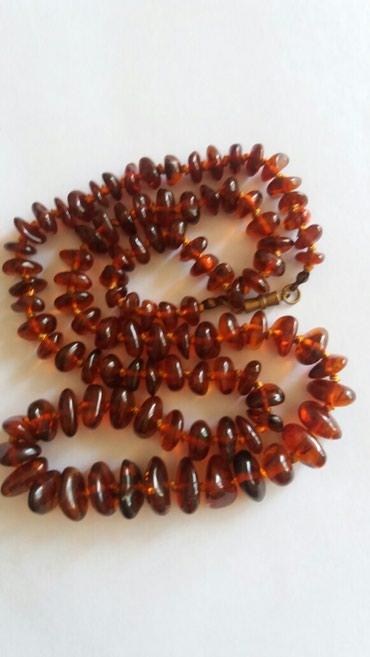 Kais-cm - Srbija: Bogata ogrlica od baltickog cilibara boje konjaka duzine 70 cm sa
