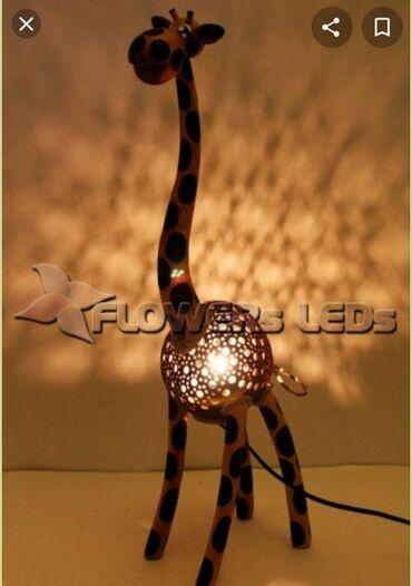дома из газобетона в Азербайджан: Светильник жираф из кокоса из Тайланда
