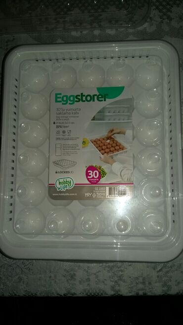 встраиваемая вытяжка для кухни в Азербайджан: 30ədəd yumurta üçün qab. Təmiz türkiyənin malıdır.Çox möhkəm materialı