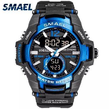 часы все цвета в Кыргызстан: Продаю мужские часы SMAEL. Водонепроницаемые, со светодиодной подсветк