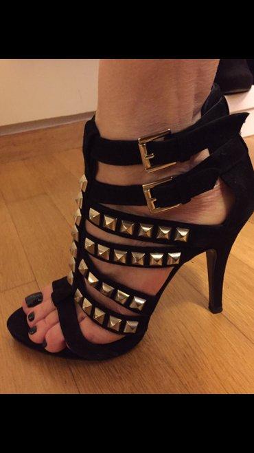 Black high heels studs sandals size 39 New ! Never worn . Bought 80£ σε Υπόλοιπο Αττικής - εικόνες 4