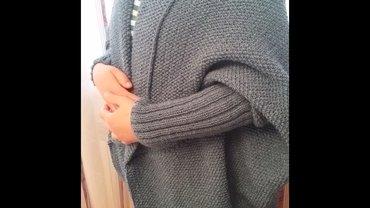 женские вязаные кардиганы в Азербайджан: Кардиган ручной вязки, не одевался, в большом размере.ƏIdə toxuma