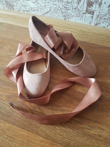 НОВЫЕ балетки с лентами. размер 36.5-37. в Лебединовка