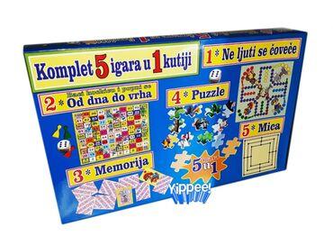 Puzzle - Srbija: Ova vesela kutija sadrži 5 odličnih društevnih igara.U kopletu
