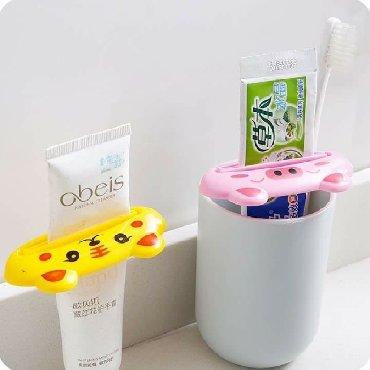 Веселые зверушки для выдавливания зубной пасты, кремов и т.п. 80 сом