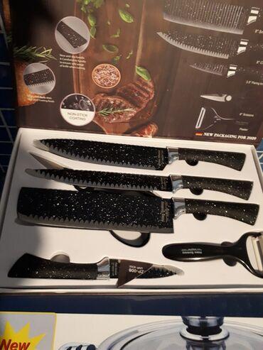 """Комплект ножей фирмы """"ZEPFER """"-ФРГ(оригинал).6 предметов.Высокое"""