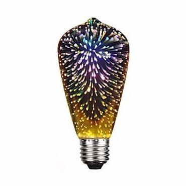 Декоративная светодиодная 3D лампочка Фейерверк ST64 поможет вам
