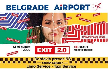 Transport putnika - Srbija: Transportation : Belgrade Airport - EXIT 2.0 Novi Sad,  We organize gr