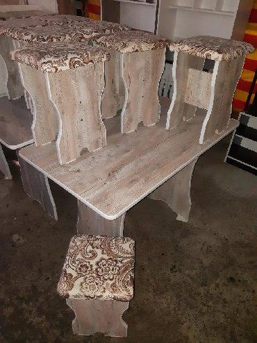 стол на кухню раскладной в Кыргызстан: Стол 4 Табуретка 3000сом Доставка Стол 6шт Tабуретка 4500 Dostavka