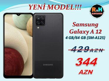 """Samsung s 5 - Azərbaycan: Samsung Galaxy A 12 4/64 GB Ekran : 6.50"""" / PLS IPS Android : 10.0 Ram"""