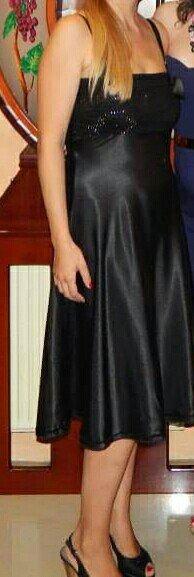 Predivna saten haljina,jednom nosena - Vrnjacka Banja