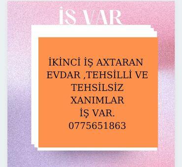 Qəlyan, vayp və aksesuarları - Xırdalan: İşləmək istəyən xanımları komandaya dəvət edirəm.İş telefon vasitəsilə