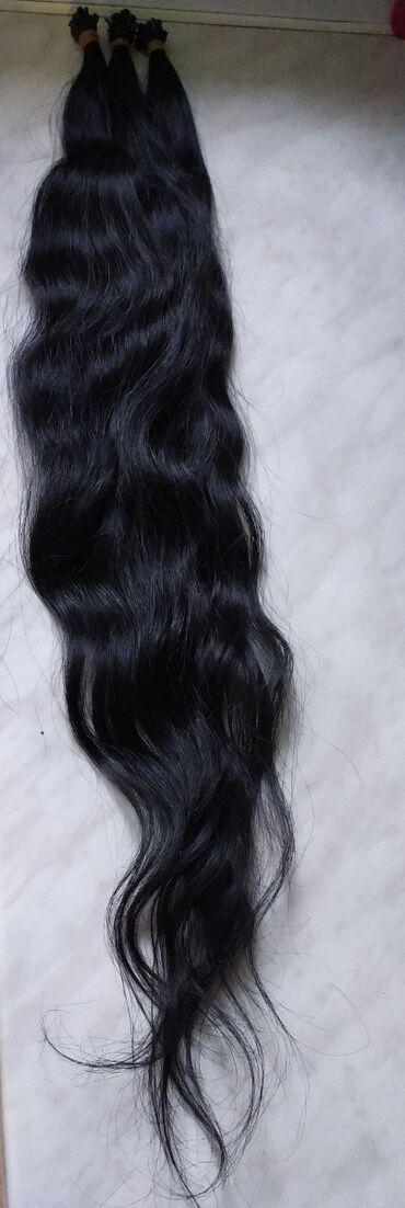 Продаю волосы для наращивания. длина 65 см., уже закапсованные 160