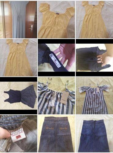 Paket od tri haljine m veličina, kombinezon i suknja sve za 1200 din