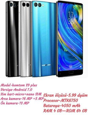 Gəncə şəhərində Homtom S9 plus Telefon təzədir barter yoxdur.100 % global zavod proşiv