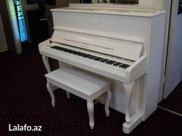 Bakı şəhərində Ağ, krem, fil dişi ve saire renglerde pianolar satılır. Keyfiyyete
