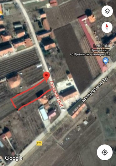 Plac je u naselju Leđenka, Donji Matejevac, površine 30 ari, užom - Nis
