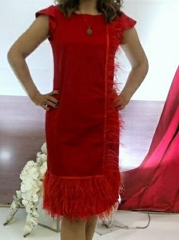 Турецкая платье с перьями, 44-46 размер, в Бишкек